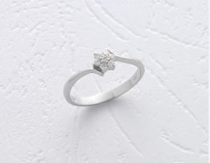 trInel Safirelli 18 cu diamant taietura brilliant 0,11ct